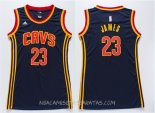 Camisetas Mujer Cleveland Cavaliers LeBron James Azul