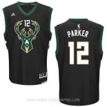 Camisetas Milwaukee Bucks Jabari Parker Negro