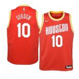 Camisetas Niños Houston Rockets Eric Gordon Naranja Hardwood Classics 2019-20