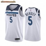 Camisetas NBA Nike Minnesota Timberwolves Malik Beasley Blanco Association 2019-20