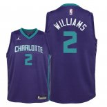 Camisetas Niños Charlotte Hornets Marvin Williams Púrpura Statement 2018