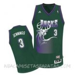 Camisetas Milwaukee Bucks Brandon Jennings Verde