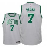 Camisetas Niños Boston Celtics Jaylen Brown Nike Gris Ciudad 2018