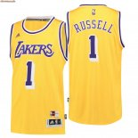 Camisetas Los Angeles Lakers NO.1 D'Angelo Russell Retro Azul