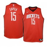 Camisetas Niños Houston Rockets Clint Capela Rojo Icon 2019-20