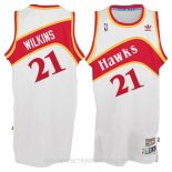 Camisetas Atlanta Hawks Dominique Wilkins Blanco