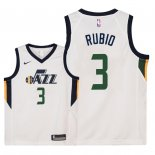 Camisetas Niños Utah Jazz Ricky Rubio Blanco Association 2018