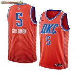 Camisetas NBA Nike Oklahoma City Thunder Richard Solomon Naranja Statement 2019-20