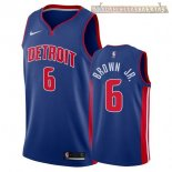 Camisetas Detroit Pistons Bruce Brown Jr Azul Icon 2017-2018