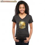 Camisetas Mujer NBA Golden State Warriors Negro Oro