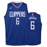 Camisetas Niños Los Angeles Clippers DeAndre Jordan Azul Icon 2018