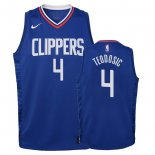 Camisetas Niños Los Angeles Clippers Milos Teodisic Azul Icon 2018