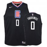 Camisetas Niños Los Angeles Clippers Sindarius Thornwell Negro Statement 2018