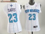 Camisetas Mujer New Orleans Pelicans NO.23 Anthony Davis Blanco