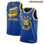 Camisetas NBA Golden State Warriors Personalizada Azul Hardwood Classics