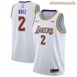 Camisetas Los Angeles Lakers Lonzo Ball Blanco 2018-2019