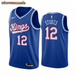 Camisetas NBA Sacramento Kings Maurice Stokes Azul Throwback