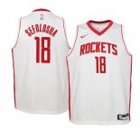 Camisetas Niños Houston Rockets Thabo Sefolosha Blanco Association 2019-20