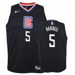 Camisetas Niños Los Angeles Clippers Montrezl Harrell Negro Statement 2018