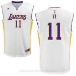 Camisetas Los Angeles Lakers Yi Blanco