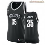 Camisetas Mujer Brooklyn Nets Kenneth Faried Negro Icon 2018