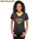 Camisetas Mujer NBA New Orleans Pelicans Negro Oro