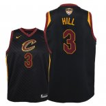 Camisetas Niños Cleveland Cavaliers 2018 Finales Champions George Hill Negro Statement Parche
