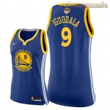 Camisetas Mujer Golden State Warriors 2018 Finales Champions Andre Iguodala Azul Icon Parche