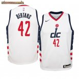 Camisetas Niños Washington Wizards Davis Bertans Nike Blanco Ciudad 2019-20