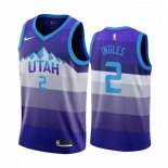Camisetas NBA Utah Jazz Joe Ingles Púrpura Throwback