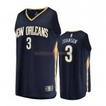 Camisetas Niños New Orleans Pelicans Stanley Johnson Negro Icon