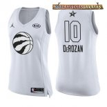 Camisetas Mujer 2018 All Star DeMar DeRozan Blanco