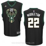 Camisetas Milwaukee Bucks Khris Middleton Negro