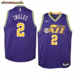 Camisetas Niños Utah Jazz Joe Ingles Purpura Hardwood Classicss