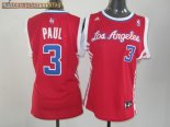 Camisetas Mujer Los Angeles Clippers NO.3 Chris Paul Rojo