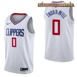 Camisetas L.A.Clippers Sindarius Thornwell Blanco Association 2017-2018