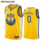 Camisetas NBA Nike Golden State Warriors D'Angelo Russell Amarillo Ciudad 2019-20