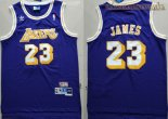 Camisetas Los Angeles Lakers NO.23 Lebron James Retro Púrpura