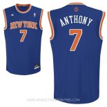 Camisetas New York Knicks Carmelo Anthony Azul