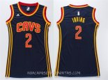 Camisetas Mujer Cleveland Cavaliers Kyrie Irving Azul