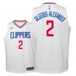 Camisetas Niños Los Angeles Clippers Shai Gilgeous Alexander Blanco Association 2018