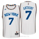 Camisetas New York Knicks Carmelo Anthony Blanco Encaje