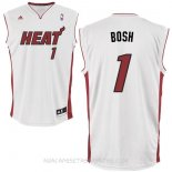Camisetas Miami Heat Chris Bosh Blanco Rojo