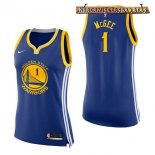 Camisetas Mujer Golden State Warriors JaVale McGee Azul Icon 2017-2018