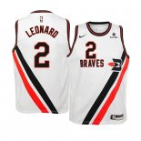 Camisetas Niños Earned Edition Los Angeles Clippers Kawhi Leonard Blanco