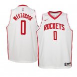 Camisetas Niños Houston Rockets Russell Westbrook Blanco Association 2019-20