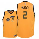 Camisetas Niños Utah Jazz Joe Ingles Amarillo Statement 2018