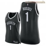 Camisetas Mujer Brooklyn Nets D'Angelo Russell Negro Icon 2018