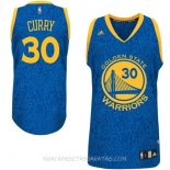 Camisetas Golden State Warriors Luz Leopardo Curry Azul