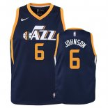 Camisetas Niños Utah Jazz Joe Johnson Marino Icon 2018
